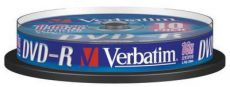 Диск DVD-R Verbatim 4.7Gb 16x Cake Box (10шт) (43523)